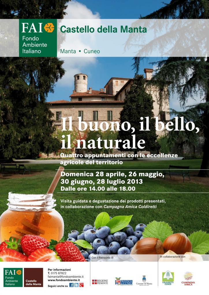 """""""Io scelgo Bio"""". Domenica 26 maggio Castello della Manta"""
